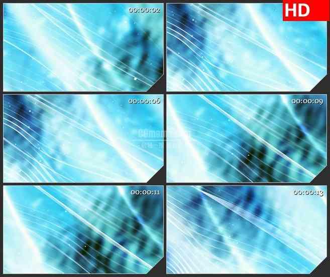 BG1177-蓝色背景白色细密波浪线粒子动态LED高清视频背景素材