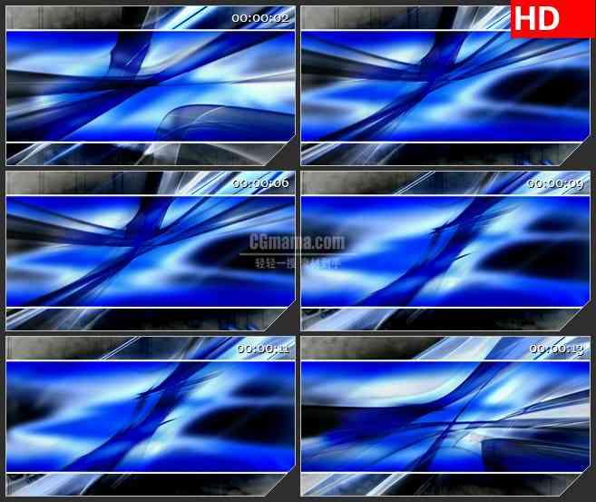 BG1183-蓝色光条透明板动态LED高清视频背景素材