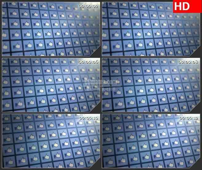 BG1201-拇指点赞墙facebook脸书墙动态LED高清视频背景素材