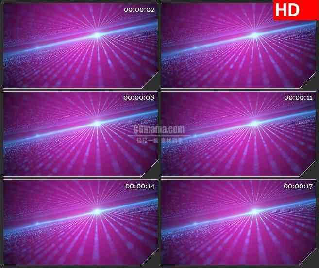 BG1232-紫色光场粒子地平线闪烁动态LED高清视频背景素材