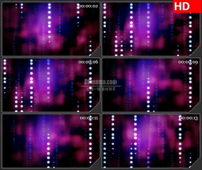 BG1235-紫色红色云雾纹理背景白色亮斑点动态LED高清视频背景素材
