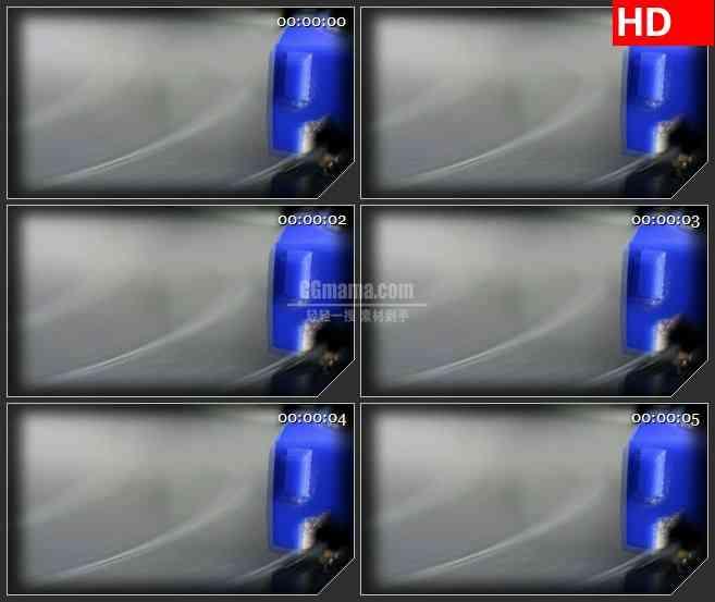 BG1248-唱片转盘旋转蓝色唱片帧跳动动态LED高清视频背景素材