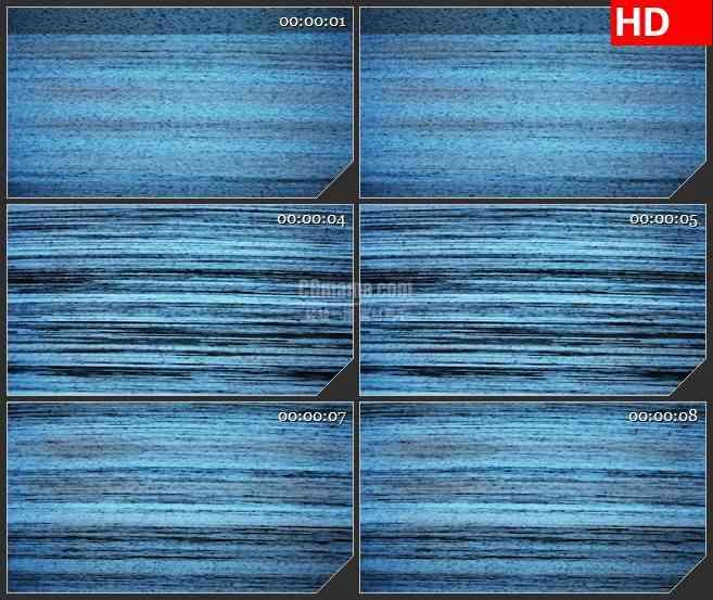 BG1261-电视VCR屏幕躁波干扰蓝色横条纹动态LED高清视频背景素材