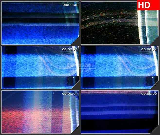 BG1262-电视VCR屏幕躁波干扰雪花点条纹动态LED高清视频背景素材