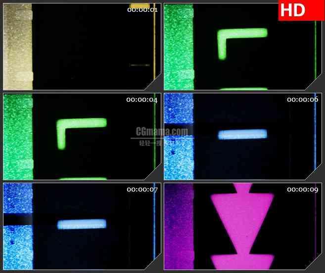 BG1264-电视电影老旧胶片英文字母滚动动态LED高清视频背景素材