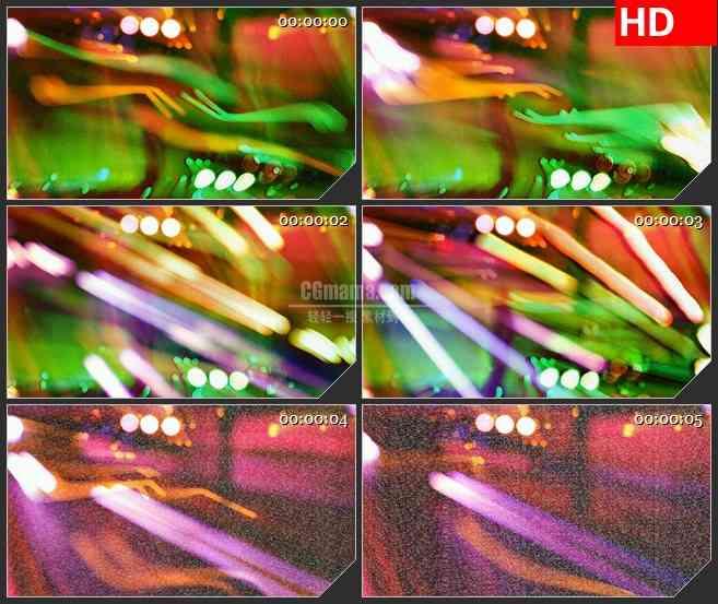BG1266-电视屏幕VCR红绿灯光躁波干扰动态LED高清视频背景素材