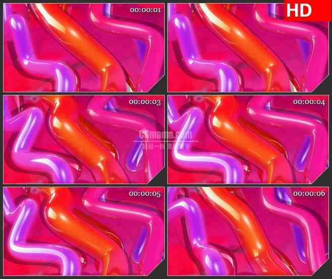 BG1271-多彩红色紫色气球扭曲运动动态LED高清视频背景素材
