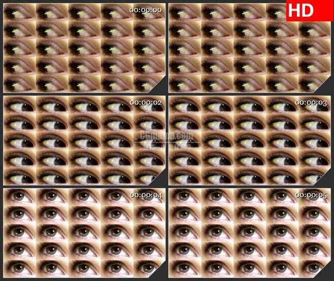 BG1272-方块格子眼睛运动眼球转动动态LED高清视频背景素材