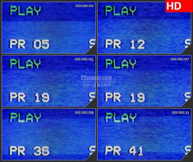 BG1291-蓝色屏幕录像机动态LED高清视频背景素材