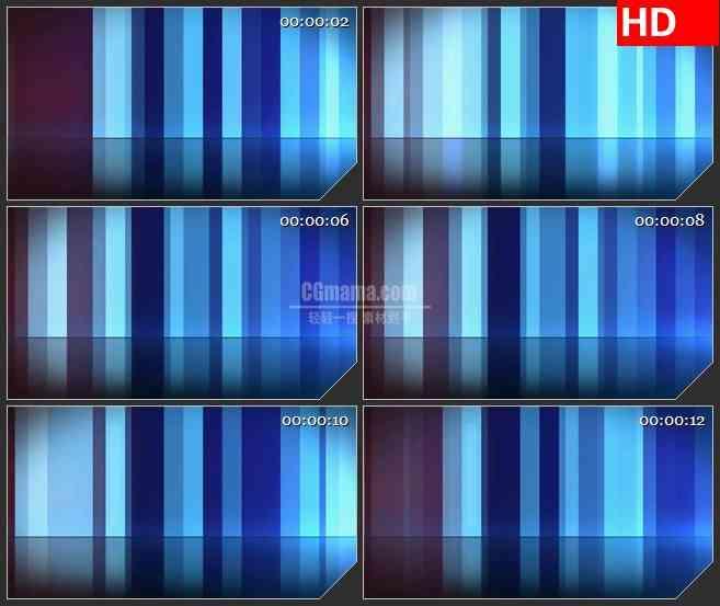 BG1292-蓝色竖条渐变条纹动态LED高清视频背景素材