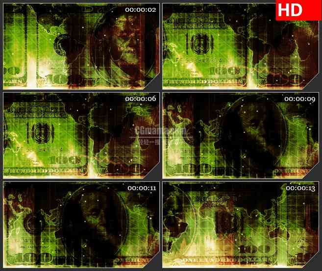 BG1303-美国经济金钱货币世界动态LED高清视频背景素材