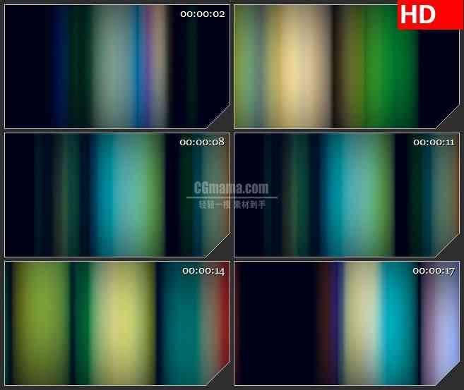 BG1315-七彩霓虹垂直线扫描变换动态LED高清视频背景素材