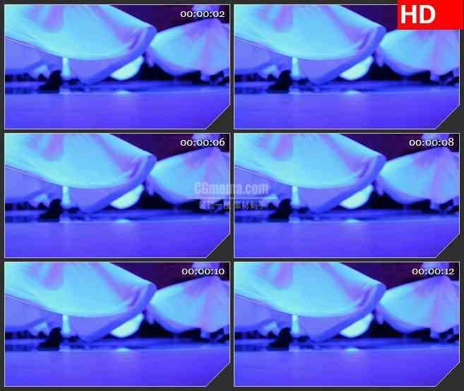 BG1351-旋转的舞者白色裙摆动态LED高清视频背景素材