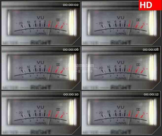 BG1362-紫外分光光度计指针拨动特写动态LED高清视频背景素材