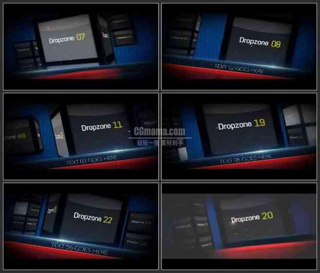 AE2598-电视栏目包装 3D空间 图文视频展示
