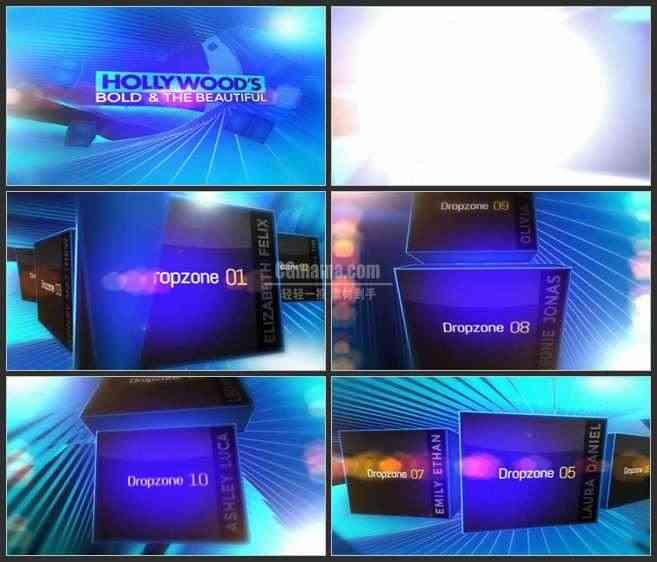 AE2616-电视栏目包装 图片视频展示 屏幕转换