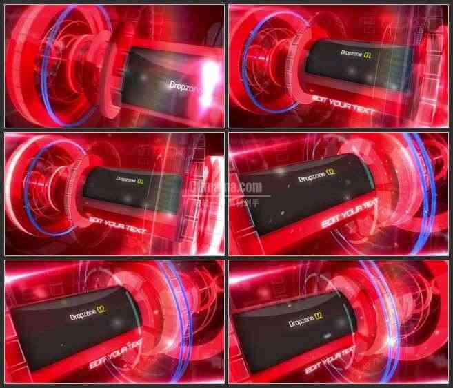 AE2632-红色科技展示 图片视频展示