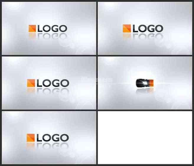 AE2738-简约白色空间3D LOGO演绎展示
