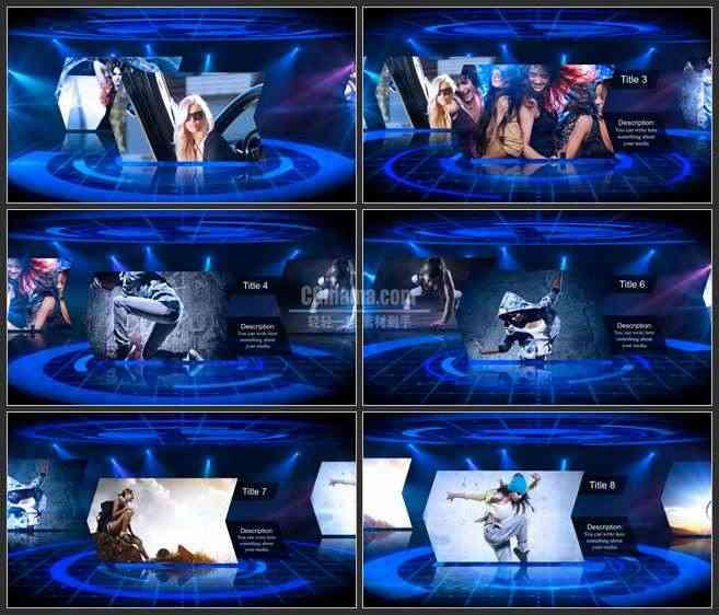 AE2743-3D空间 箭头屏幕展示 图文展示 开场宣传片