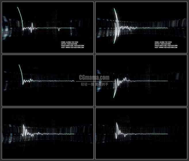 AE2747-波动光线 音乐LED背景 文本展示