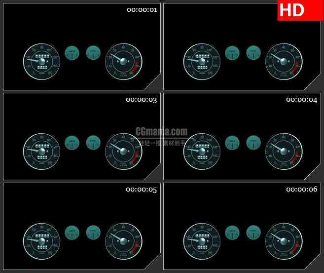 BG1368-带alpha通道的透明测速仪高清特效合成视频素材