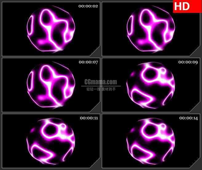 BG1369-带alpha通道的透明导电球体光球高清特效合成视频素材