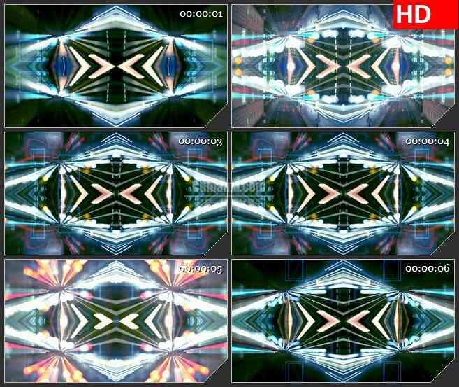 BG1387城市万花筒 车水马龙景色 抽象光斑 高清LED大屏视频背景素材