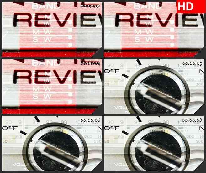 BG1392磁带播放器彩色文字跳动复古动态LED高清视频背景素材