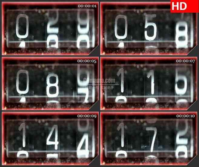 BG1399磁带计数器特写数字跳动动态LED高清视频背景素材