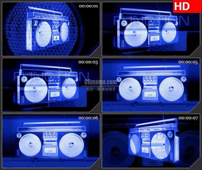 BG1451技术覆盖多彩收音机音箱变换动态LED高清视频背景素材