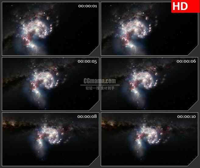 BG1482螺旋宇宙星空星系梦幻动态LED高清视频背景素材