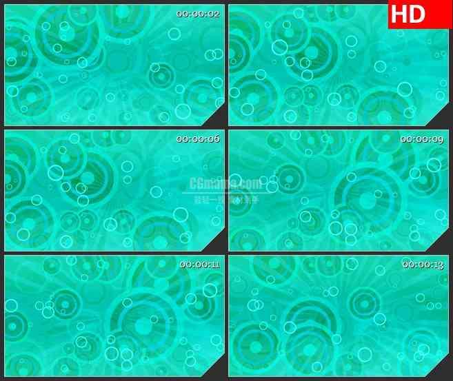 BG1489青色复古圆环圆圈动态LED高清视频背景素材