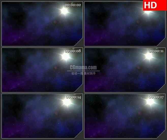 BG1490晴朗星空启明星闪耀动态LED高清视频背景素材