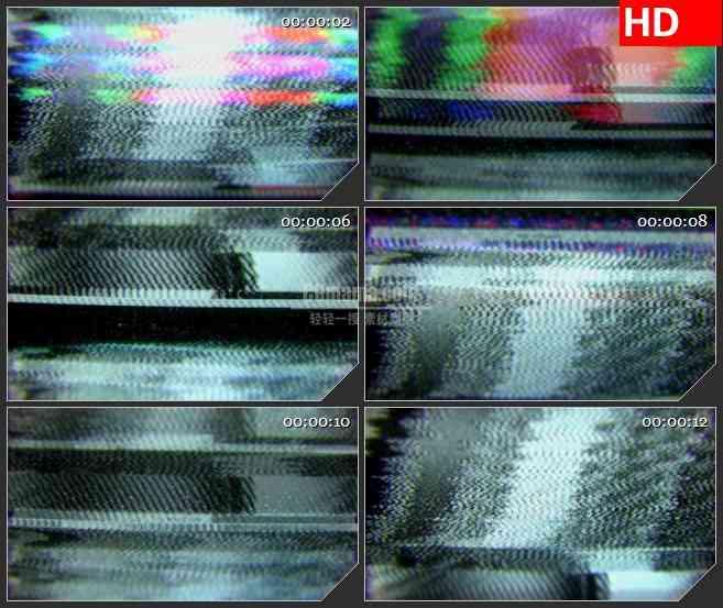 BG1502视频VCR跟踪模糊画面黑色宽横条噪波动态LED高清视频背景素材