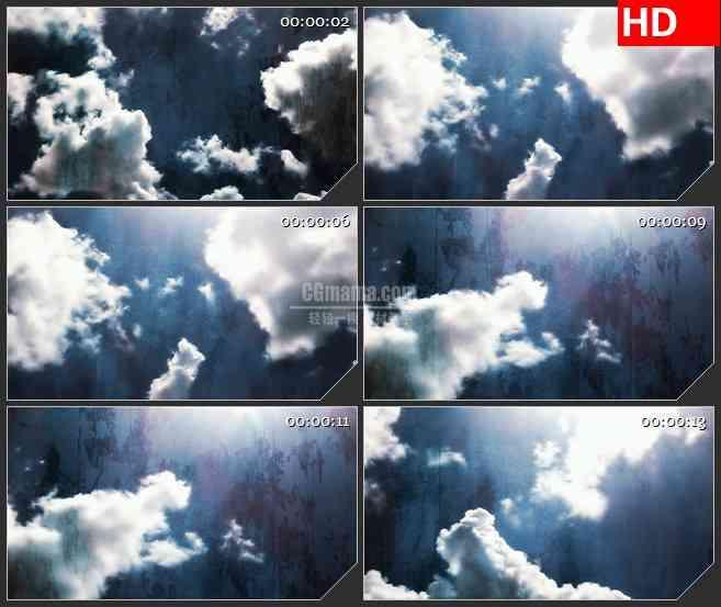 BG1517太阳天空白云纹理动态LED高清视频背景素材