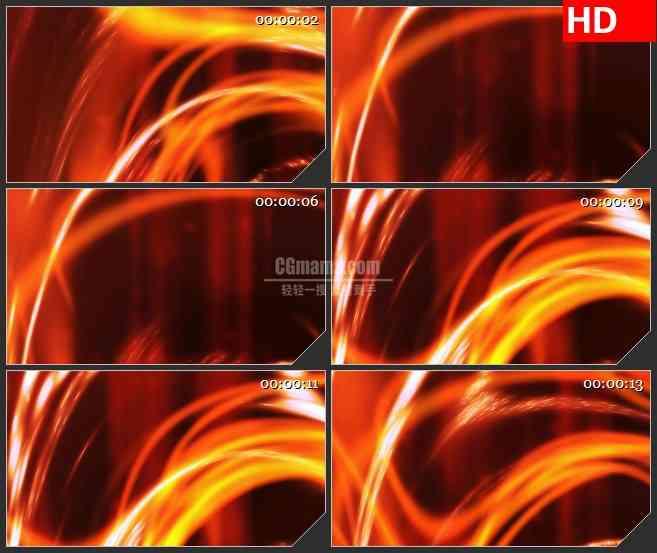 BG1544旋转火焰纹荧光线条动态LED高清视频背景素材