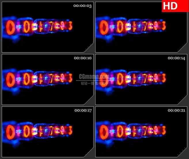 BG1547炫酷灯光时间倒计时高清led大屏视频背景素材