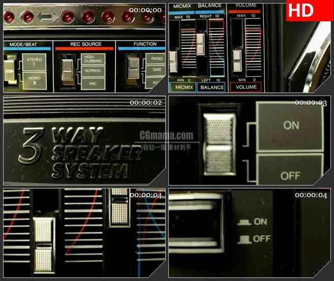 BG1552音乐工作室设备快镜头切换蒙太奇动态LED高清视频背景素材