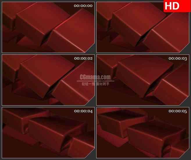 BG1568暗红色方块链跳动动态LED高清视频背景素材