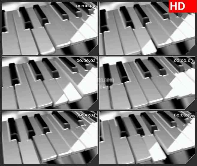 BG1594穿梭的钢琴琴键高清led大屏视频背景素材