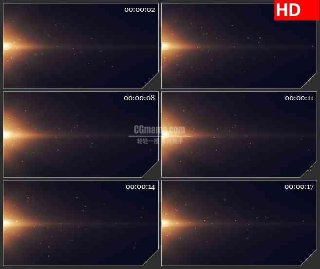 BG1596橙色太阳粒子尘埃光芒动态LED高清视频背景素材