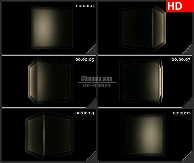 BG1600淡黄色半透明双层盒子转动动态LED高清视频背景素材