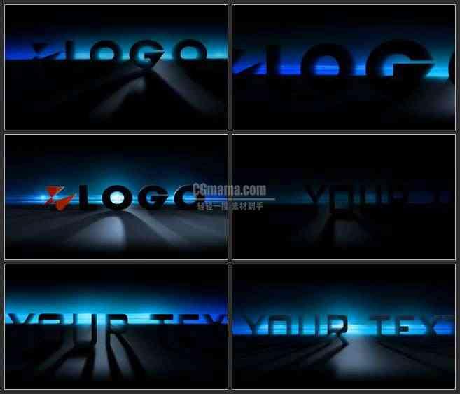 AE2765-光影效应 3DLOGO展示