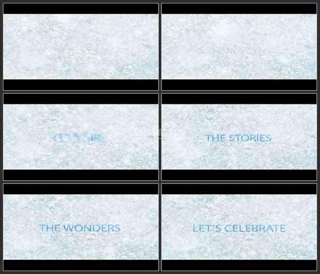AE2769-寒冷的大雪 文本LOGO展示 宣传片