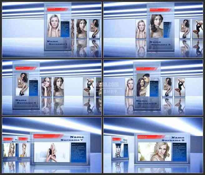 AE2784-卡片幻灯片播放式 图文展示 企业宣传