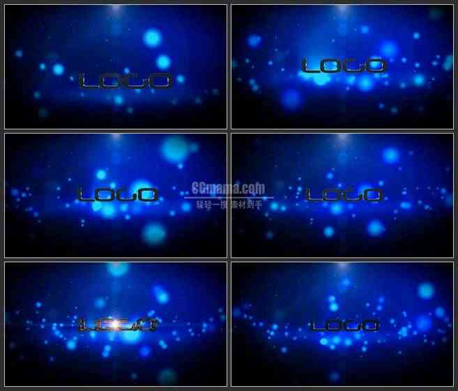 AE2794-大气蓝色星空 LOGO展示