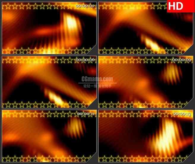 BG1649红色橙色火焰光晕星星花边移动动态LED高清视频背景素材