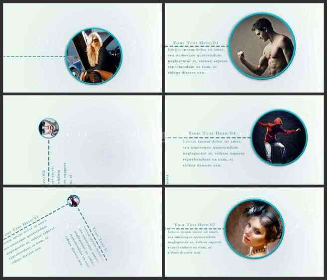 AE2802-二维树状图动画 图文展示 宣传预告片