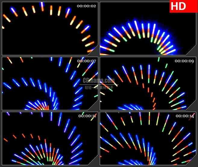 BG1654红色螺旋灯闪烁动态LED高清视频背景素材