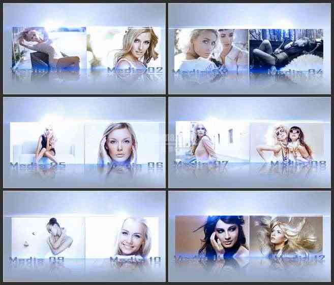 AE2807-3D空间 合页式展示窗 图片视频展示 相册宣传片
